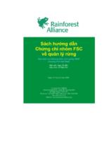 Hướng dẫn về chứng chỉ nhóm FSC quản lý rừng